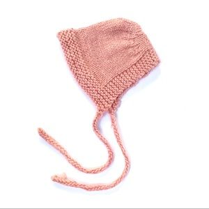 🌸🌵🌼Pink Knitted Baby Bonnet